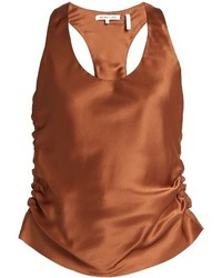 Brown Silk Tank