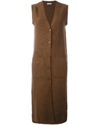 Brown Sleeveless Coat