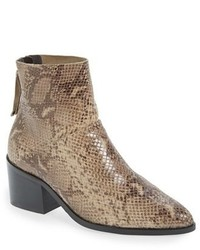 Topshop Midnight Snake Embossed Ankle Boot