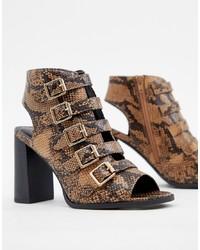 New Look Detail Snake Heeled Sandal Pattern