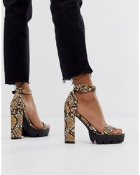 SIMMI Shoes Simmi London Jordan Snake Ed Sandals