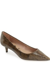 Jaunt genuine snakeskin kitten heel pump medium 756994