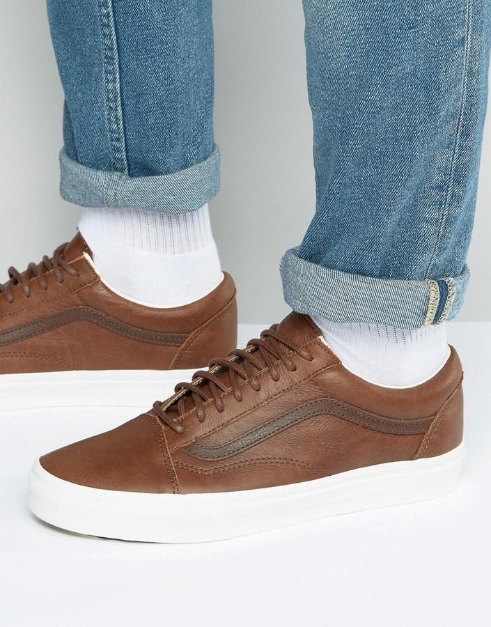 8259fe81a8 ... Vans Old Skool Sneakers In Brown Va31z9lyw ...
