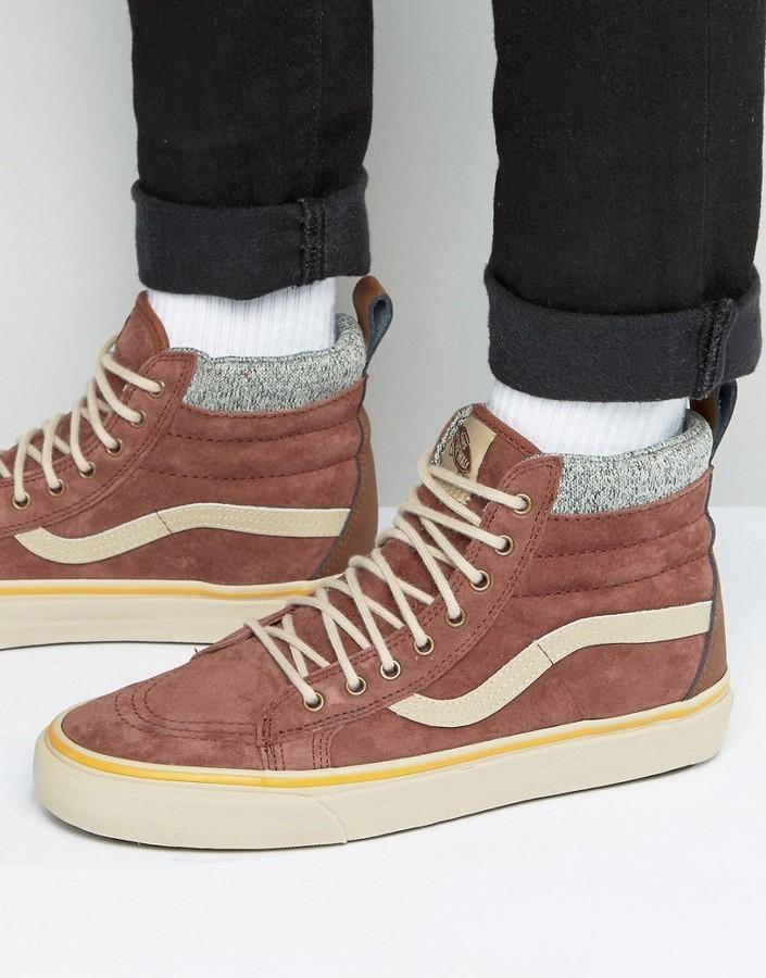 ecd8d6e8d4b6e4 Men s Fashion › Footwear › Sneakers › Asos › Vans › Brown Sneakers Vans Sk8  Hi Mte Dx Sneakers In Brown Va3498lqv ...