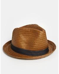 Brixton Castor Fedora Straw Hat
