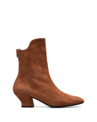 Dorateymur Brown Han 50 Suede Ankle Boots