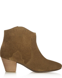 Isabel marant toile the dicker suede ankle boots brown medium 339459