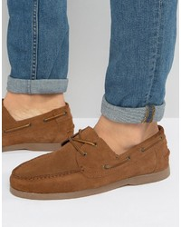 Boat shoes in tan suede with gum sole medium 3726567