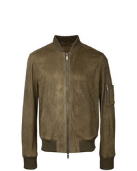 Desa Collection Leather Bomber Jacket