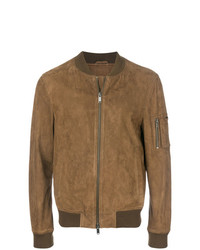 Desa 1972 Leather Bomber Jacket