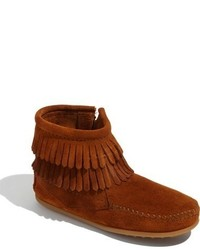 Minnetonka Girls Double Fringe Boot