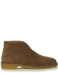 98728a0aa02 Men's Brown Suede Boots by Saint Laurent | Men's Fashion