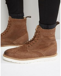 Brogue boots in tan suede medium 1198300