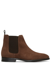 Paul Smith Ps By Brown Suede Gerald Chelsea Boots