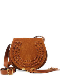 Marcie mini suede shoulder bag tan medium 954100