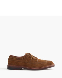 J.Crew Alden For Longwing Bluchers In Suede