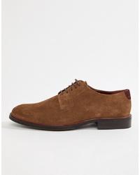 Silver Street Suede Derby Shoe In Brown