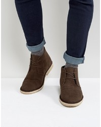 ASOS DESIGN Asos Desert Boots In Brown Faux Suede