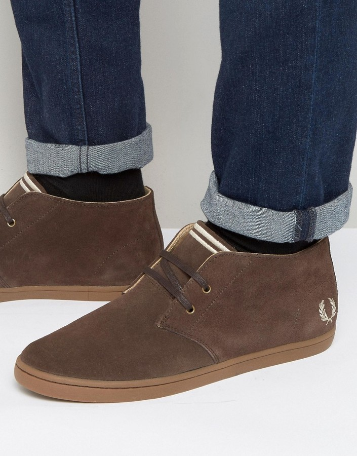 2a3bf20125b ... Fred Perry Byron Mid Suede Chukka Boots ...
