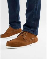 ASOS DESIGN Chukka Boat Shoes In Tan Suede