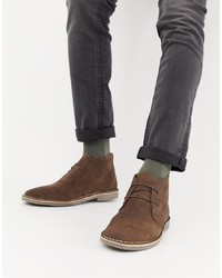 Burton Menswear Desert Boot In Brown