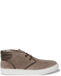 La sorbonne shearling lined suede chukka boots medium 806251