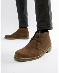 Barbour Readhead Leather Suede Lace Up Mid Boots In Tan