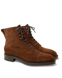 Edward Green Galway Cap Toe Suede Boots