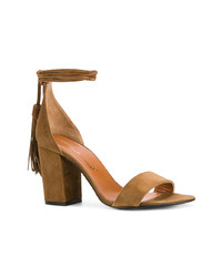 Via Roma 15 Tassle Ankle Tie Sandals