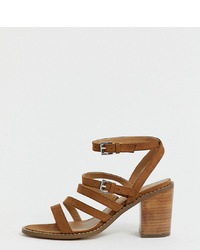 ASOS DESIGN Wide Fit Tycoon Heeled Sandals