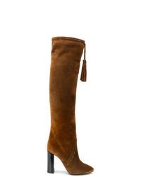 Saint Laurent Tassel Detail Knee Length Boots