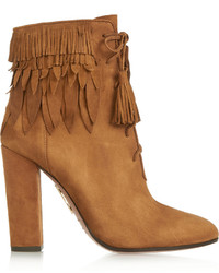 Woodstock fringed suede ankle boots medium 332801