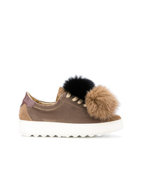 Philippe Model Madeleine Fox Pom Sneakers