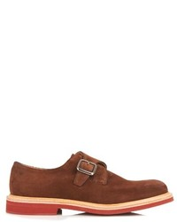 Brown Suede Monks