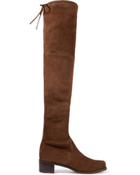 Midland suede over the knee boots brown medium 696223