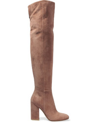 Suede over the knee boots taupe medium 673223