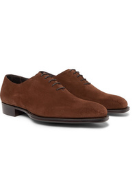 Kingsman George Cleverley Whole Cut Suede Oxford Shoes