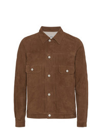 Brown Suede Shirt Jacket