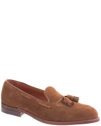 Alden For Jcrew Suede Tassel Loafers