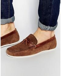 Tassel loafer in brown suede medium 755519