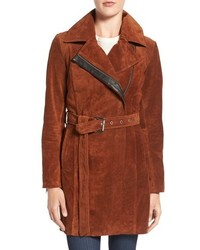 Sienna 33 suede belted trench coat medium 815024