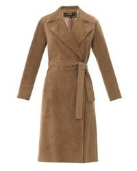 Gucci Suede Wrap Around Trench Coat