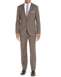 BOSS Johnstonslenon Trim Fit Solid Wool Suit