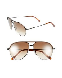 Tod's 57mm Aviator Sunglasses Dark Brown Gradient Brown One Size