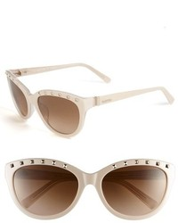 Valentino 57mm Studded Cat Eye Sunglasses
