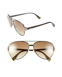 Fendi 60mm Aviator Sunglasses Dark Brown One Size