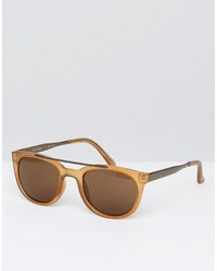 A. J. Morgan Aj Morgan Round Sunglasses In Amber