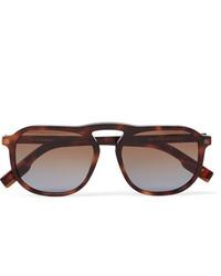 Ermenegildo Zegna Aviator Style Tortoiseshell Acetate Sunglasses