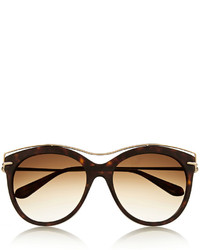 Alexander McQueen Cat Eye Acetate And Metal Sunglasses