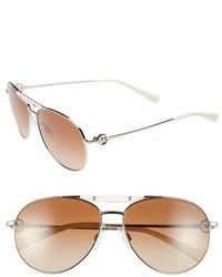 Michael Kors Michl Kors 58mm Aviator Sunglasses Gold Smoke Gradient